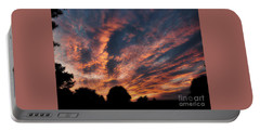 Fire Swept Sky  Portable Battery Charger by Christy Ricafrente