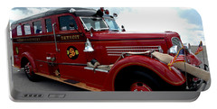 Fire Truck Selfridge Michigan Portable Battery Charger