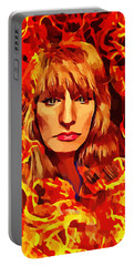 Fire Woman Abstract Fantasy Art Portable Battery Charger