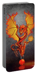Fireball Dragon Portable Battery Charger by Stanley Morrison