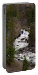Portable Battery Charger featuring the photograph Firehole Canyon by Steve Stuller