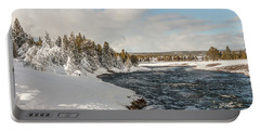 Firehole River On A Winter Day Portable Battery Charger