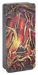 Portable Battery Charger featuring the mixed media Firelight by Angela Stout