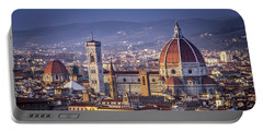 Portable Battery Charger featuring the photograph Firenze E Il Duomo by Sonny Marcyan