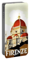 Firenze Travel Poster 1930 Portable Battery Charger