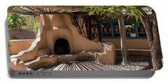 Fireplace With Sun And Shadows Portable Battery Charger