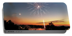 Fireworks And Sunset Portable Battery Charger
