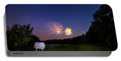 Fireworks And The Stars Portable Battery Charger