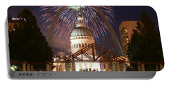 Fireworks At The Arch 1 Portable Battery Charger