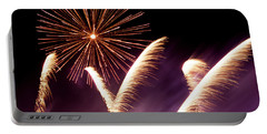 Fireworks In The Night Portable Battery Charger