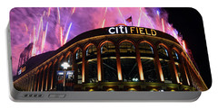 Fireworks Night At Citifield Portable Battery Charger