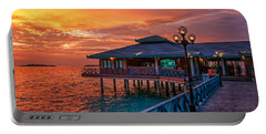 Fireworks Of Colors. Maldives Portable Battery Charger by Jenny Rainbow