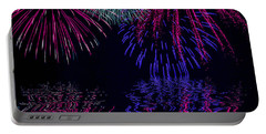 Fireworks Over Open Water 1 Portable Battery Charger