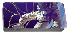 First American Walking In Space, Edward Portable Battery Charger by Nasa