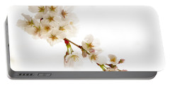 Portable Battery Charger featuring the photograph first blossoms on the Basin by Edward Kreis