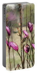 Portable Battery Charger featuring the digital art First Blush by Gina Harrison