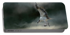 First Catch Of The Morning Osprey Art By Jai Johnson Portable Battery Charger