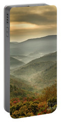 First Day Of Fall Highlands Portable Battery Charger
