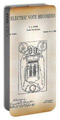 First Electric Voting Machine Patent 1869 Portable Battery Charger