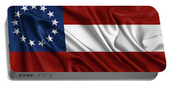 First Flag Of The Confederate States Of America - Stars And Bars 1861-1863 Portable Battery Charger