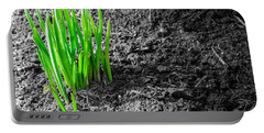First Green Shoots Of Spring And Dirt Portable Battery Charger