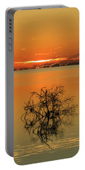 Portable Battery Charger featuring the photograph First Key West Sunrise 2018 B by Bob Slitzan
