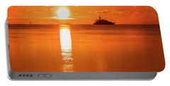 Portable Battery Charger featuring the photograph First Key West Sunrise 2018 C by Bob Slitzan