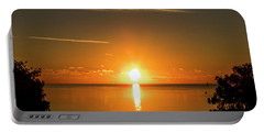 Portable Battery Charger featuring the photograph First Key West Sunrise 2018 D by Bob Slitzan