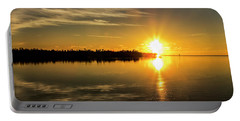 Portable Battery Charger featuring the photograph First Key West Sunrise 2018 E by Bob Slitzan