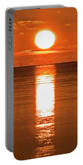 Portable Battery Charger featuring the photograph First Key West Sunrise 2018 F by Bob Slitzan