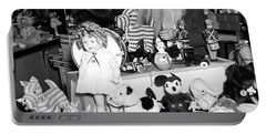 First Lady Eleanor Roosevelt And Santa Portable Battery Charger by Science Source