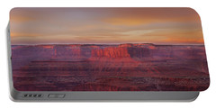 Portable Battery Charger featuring the photograph First Light At Horseshoe Bend by Marie Leslie