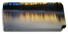 Portable Battery Charger featuring the photograph First Light At Lava Lake by Cat Connor
