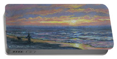 First Light - Golden Mile Portable Battery Charger by Kathleen McDermott