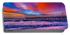 Portable Battery Charger featuring the photograph First Light On The Beach by Nick Zelinsky