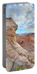 First Light On Valley Of Fire Portable Battery Charger