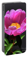 First Peony Portable Battery Charger by Skip Willits
