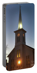 First Presbyterian Churc Babylon N.y After Sunset Portable Battery Charger