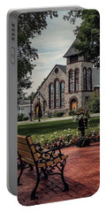 Portable Battery Charger featuring the photograph First Presbyterian Church by Kendall McKernon