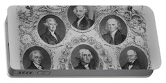 First Six U.s. Presidents Portable Battery Charger by War Is Hell Store