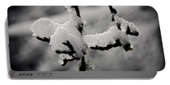 Portable Battery Charger featuring the photograph First Snow - 365-283 by Inge Riis McDonald