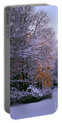 First Snow After Autumn Portable Battery Charger