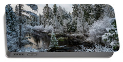 First Snow On Grand Marais Creek Portable Battery Charger