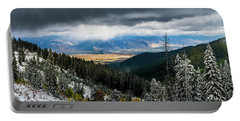 First Snow, Jackson From Teton Pass Portable Battery Charger