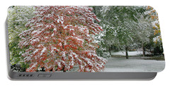 First Snow Maple Tree Horizontal Portable Battery Charger