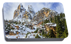 Portable Battery Charger featuring the photograph First Snow On Liberty Bell Horizontal by Mary Jo Allen