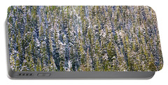 First Snow On Trees Portable Battery Charger
