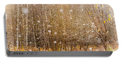 First Snow. Snow Flakes I Portable Battery Charger