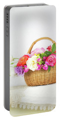 First Spring Garden Roses Portable Battery Charger