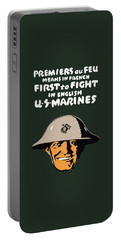 First To Fight - Us Marines Portable Battery Charger